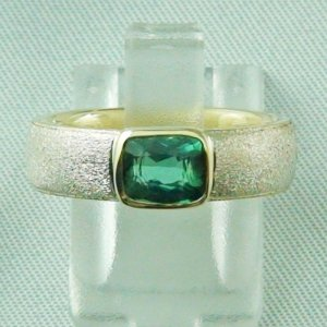 7.02 gr tourmalinering, gold ring or silver ring with tourmaline 1,23 ct