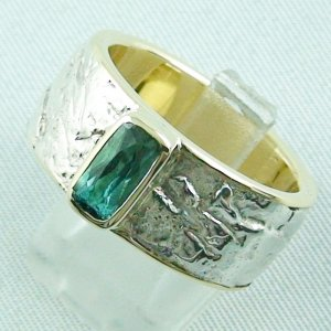 15.43 gr tourmalinering, gold ring or silver ring with tourmaline 1.25 ct, pic2