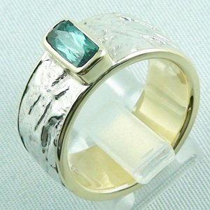 15.43 gr tourmalinering, gold ring or silver ring with tourmaline 1.25 ct, pic3
