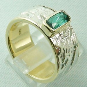 15.43 gr tourmalinering, gold ring or silver ring with tourmaline 1.25 ct, pic5