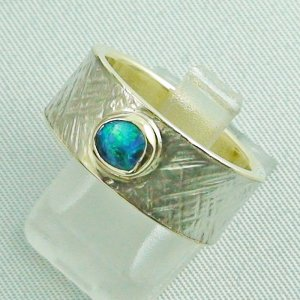 9.93 gr opalring, goldring, silverring with black opal 0.50 ct, pic2