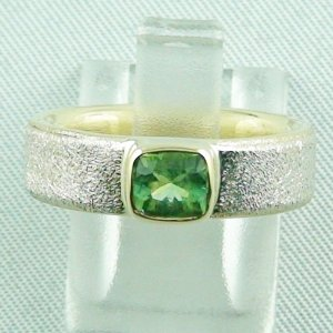 7.50 gr tourmalinering, gold ring or silver ring with tourmaline 0.77 ct