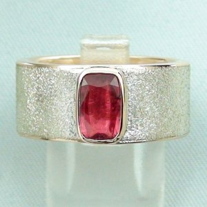 12.66 gr tourmalinering, gold ring or silver ring with tourmaline 0.94 ct
