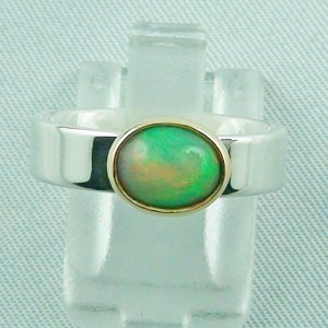 5.80 gr opalring, silver ring women with Welo Opal 1.14 ct