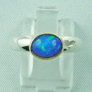 4.88 gr opalring, silver ring women with Welo Opal 1.21 ct