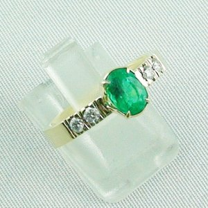 Emeraldring, goldring with emerald 585 / 14k yellow gold 4.94 gr, pic6