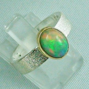 5.74 gr opalring, silver ring women with Welo Opal 1.64 ct