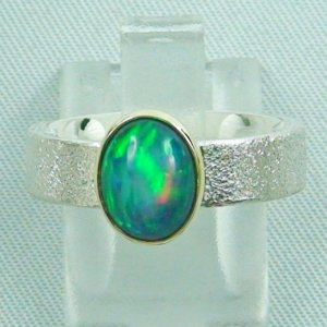 5.59 gr opalring, silver ring women with Welo Opal 1.43 ct