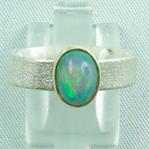 5.57 gr opalring, silver ring women with Welo Opal 1.48 ct