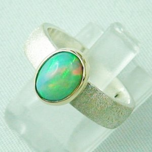 5.64 gr. opalring, silver ring ladies, Welo Opal 1.44 ct