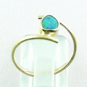 Opalring, 2.69 gr. goldring 18k with Black Crystal Opal 0.64 ct, pic4