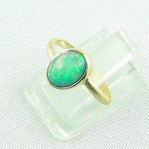 2.38 gr opalring, 18k / 750 goldring with 1.26 ct Welo Opal, pic2