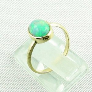 2.38 gr opalring, 18k / 750 goldring with 1.26 ct Welo Opal, pic3