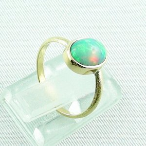 2.38 gr opalring, 18k / 750 goldring with 1.26 ct Welo Opal, pic5