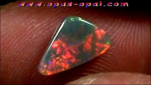 1.22 ct Black Opal gemstone 10.76 x 6.54 x 3.04 mm, pic4