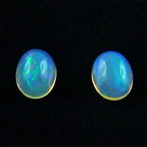 Welo Opal gemstone pair 1.74 and 1.77 ct jewellery stones