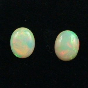 Welo Opal gemstone pair 2.08 and 2.11 ct gemstones