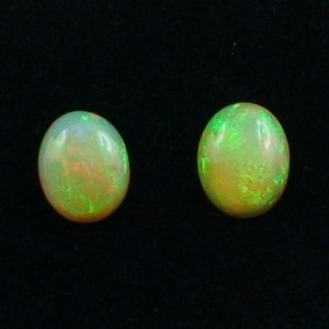 Welo Opal gemstone pair 1.65 and 1.72 ct gemstones