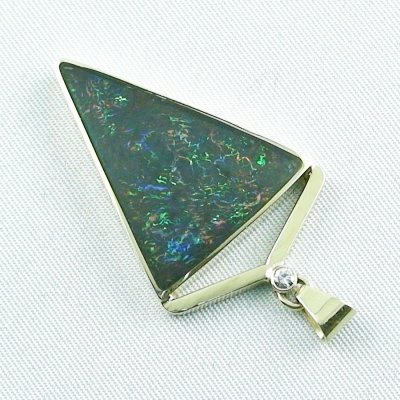 8.71 gr. gold pendant with 11.87 ct Boulder Opal + Diamond, pic3