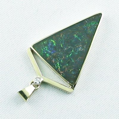 8.71 gr. gold pendant with 11.87 ct Boulder Opal + Diamond, pic5