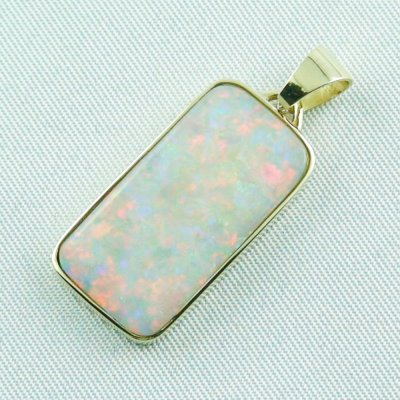 4.41 gr opalpendant, gold pendant 14k with white opal 7.20 ct, pic2