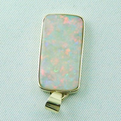 4.41 gr opalpendant, gold pendant 14k with white opal 7.20 ct, pic4