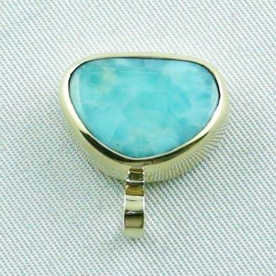 4.41 gr. gold pendant with 10.34 ct larimar gemstone, pic4