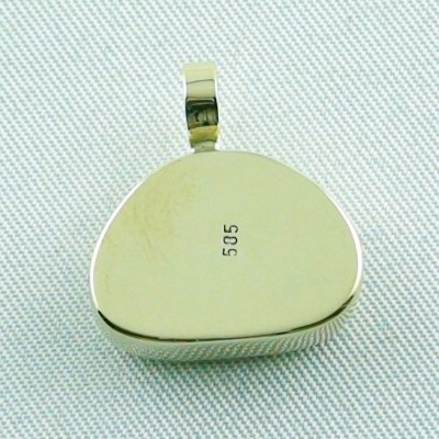 4.41 gr. gold pendant with 10.34 ct larimar gemstone, pic7