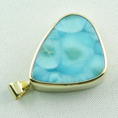 14.01 gr. gold pendant with 43,98 ct larimar gemstone, pic5