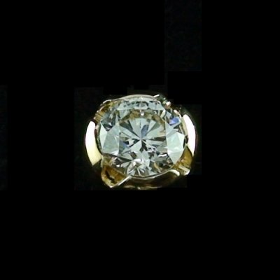 1,42 gr. Diamant-Ohrstecker, Ohrring 18k Gold mit Brillant 0,51 ct, Bild 1