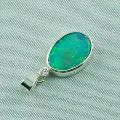 1.62 gr. opal pendant, silver pendant 925, 1.68 ct Black Crystal Opal, pic5