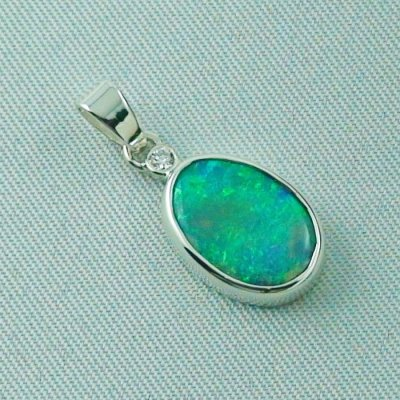 1.62 gr. opal pendant, silver pendant 925, 1.68 ct Black Crystal Opal, pic6