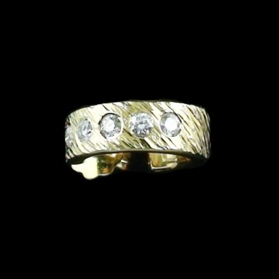 4.52 gr Diamant-Ohrstecker 3/4 Creole Ohrring 18k u 0.25 ct Diamanten, Bild1