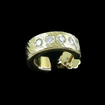 4.52 gr Diamant-Ohrstecker 3/4 Creole Ohrring 18k u 0.25 ct Diamanten, Bild3