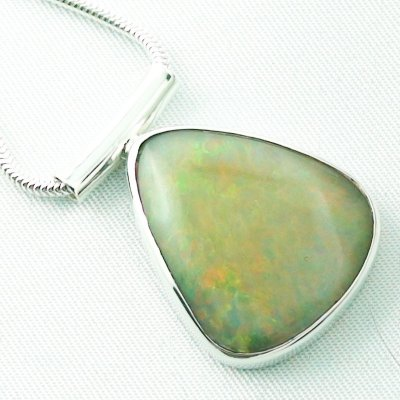 10.79 grams Silver pendant and necklace with 11.84 ct Welo Opal, pic5