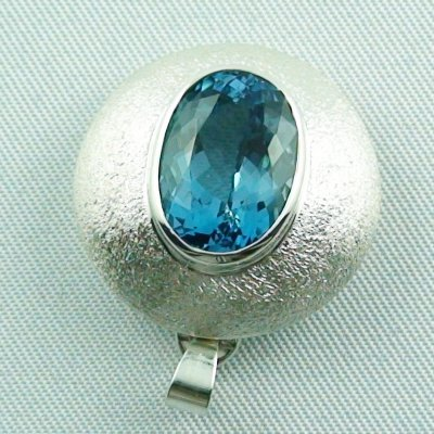 14.79 gr. Silver pendant and necklace with 7.64 ct blue topaz, pic4