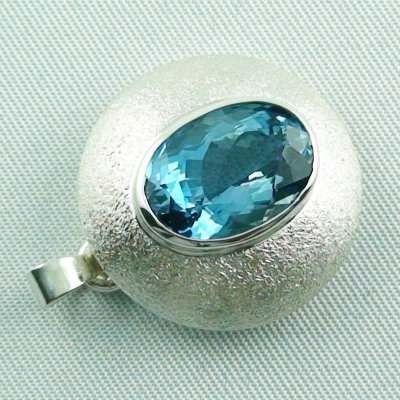 14.79 gr. Silver pendant and necklace with 7.64 ct blue topaz, pic5