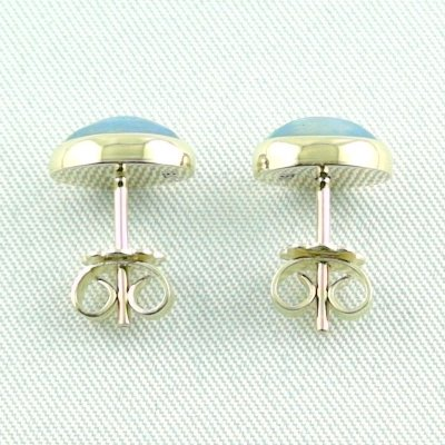 2.88 gr. opal earrings, ear studs 18k gold with 1.97 ct welo opals, pic3