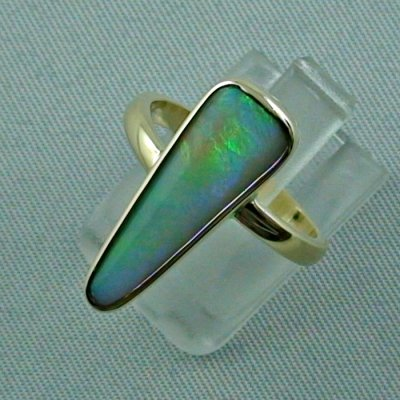 5.07 gr opalring, 14k goldring, ladies ring with blackcrystal opal, pic2