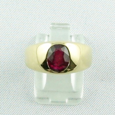 12,80 gr rubyring, 18k goldring, ladies ring with ruby, pic1