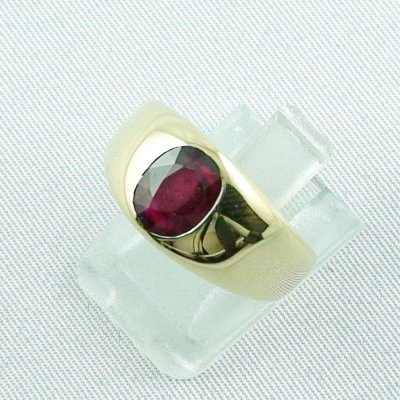 12,80 gr rubyring, 18k goldring, ladies ring with ruby, pic2