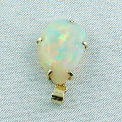 4,35 gr. opalpendant, gold pendant 18k with Welo Opal 10,40 ct, pic4