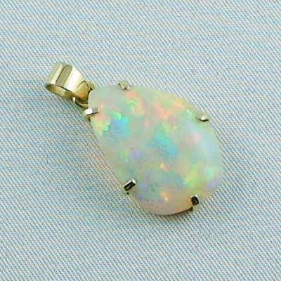4,35 gr. opalpendant, gold pendant 18k with Welo Opal 10,40 ct, pic6