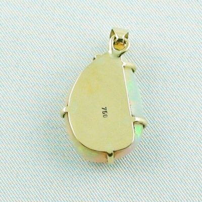 4,35 gr. opalpendant, gold pendant 18k with Welo Opal 10,40 ct, pic7