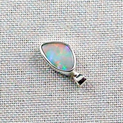 3.76 gr Silver Necklace with Opal-Pendant, White Opal, pic3