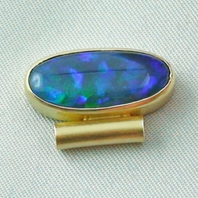 4.09 gr opalpendant, gold pendant 18k, black crystal opal 7.15 ct, pic4