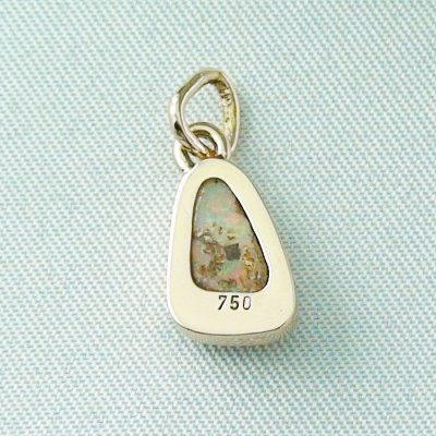 1,29 gr opal pendant, rose gold pendant 18k with crystal opal 1,78 ct, pic7