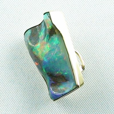 8,23 gr opalpendant, gold pendant 18k with boulder opal 18,95 ct, pic2