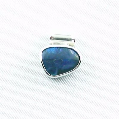 1,36 gr opalpendant, silver pendant 925 with black opal 1,66 ct, pic1