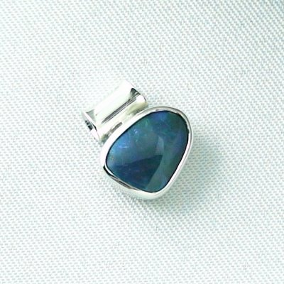 1,36 gr opalpendant, silver pendant 925 with black opal 1,66 ct, pic6